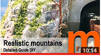 Tutorial how to create realistic mountains for model railroad railway diorama or miniature terrain for tabletop RPG