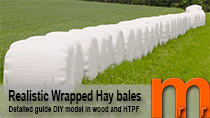 Tutorial how to model hay barrels easy and low cost